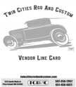 2014 Twin Cities Rod And Custom Line Card